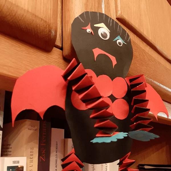 essai de slide pour le monstre de papier