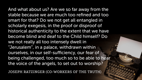 Ratzinger on the Incarnation