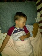William first night in real bed