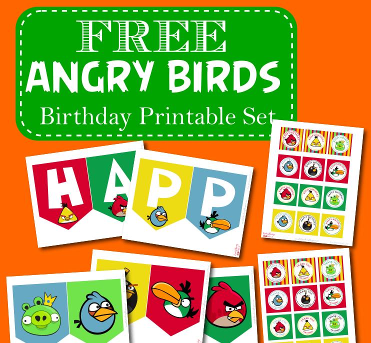 Free Angry Birds Birthday Theme Printable Set