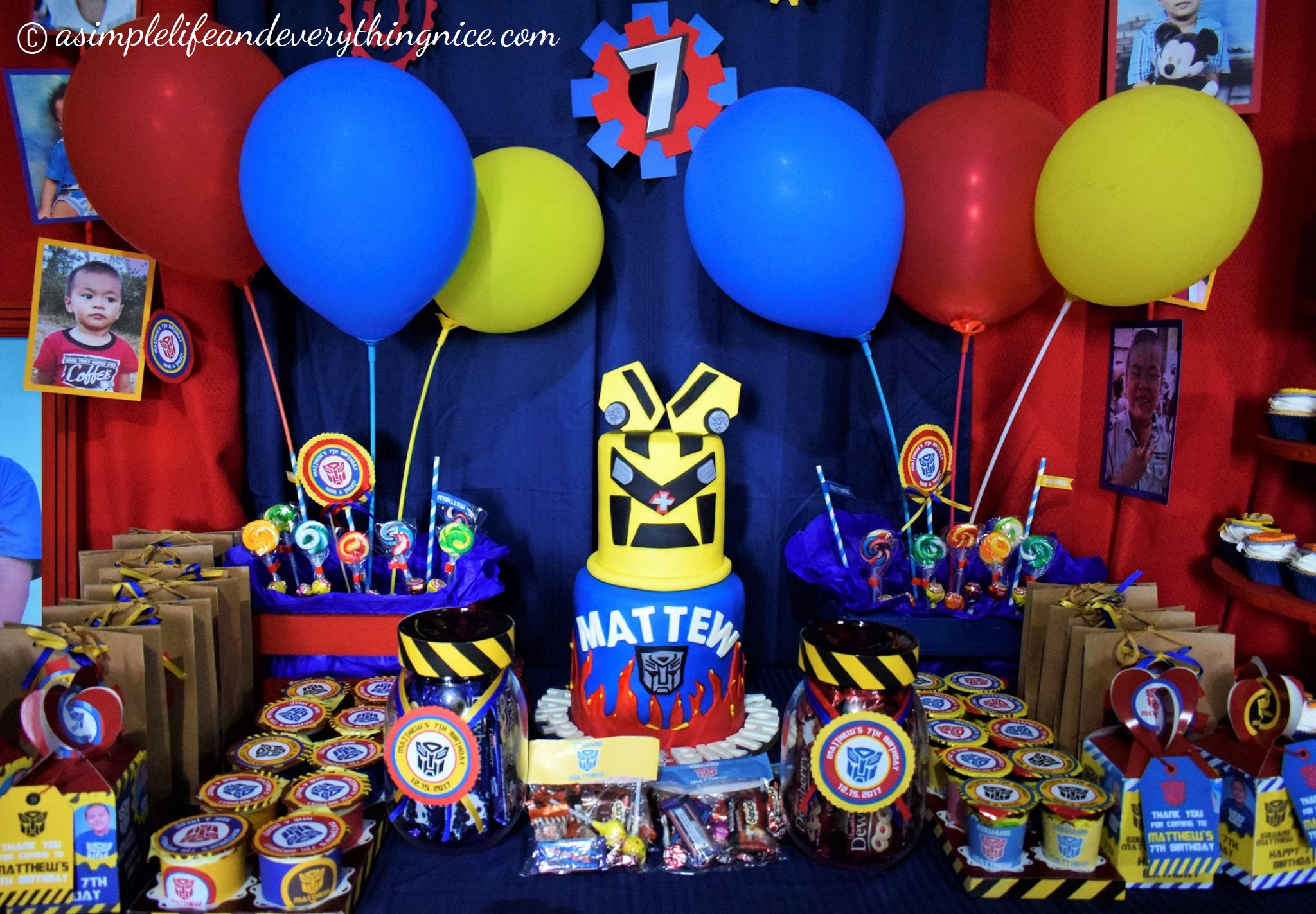 Transformers Birthday Party Decorations On A Budget Plus Free