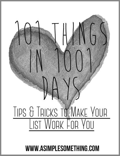 101-Thing-in-1001-Days-Tips