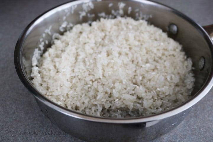 rinse rice