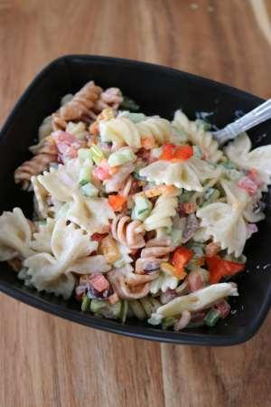 Creamy Vegetarian Pasta Salad Recipe