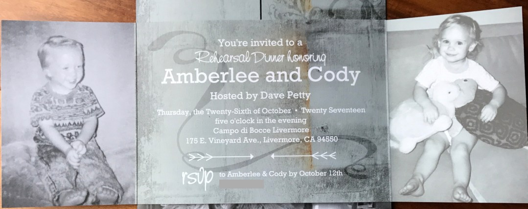 Our Rehearsal Dinner Invitations