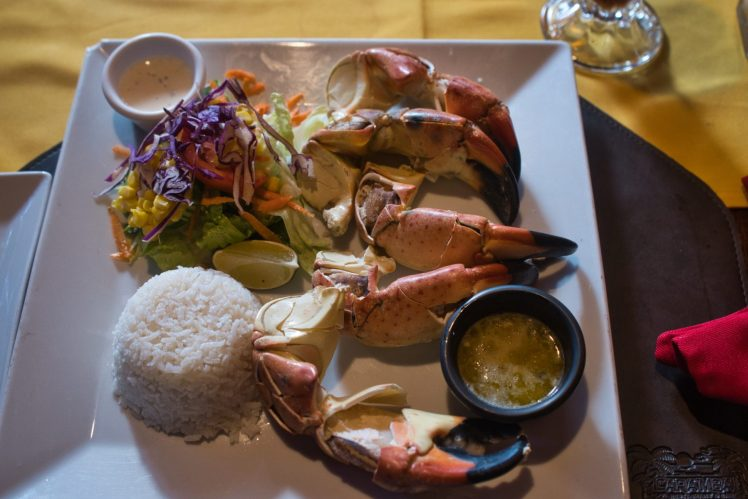 stone crab at Caramba that was recommended by the staff