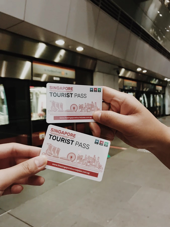 person holding tourist pass tickets