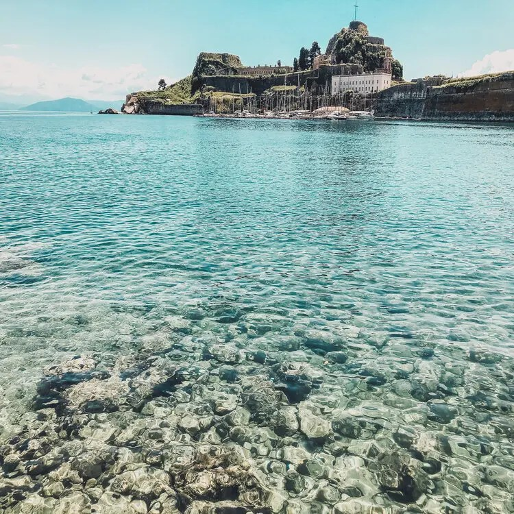 A view of the Old Fort in Corfu