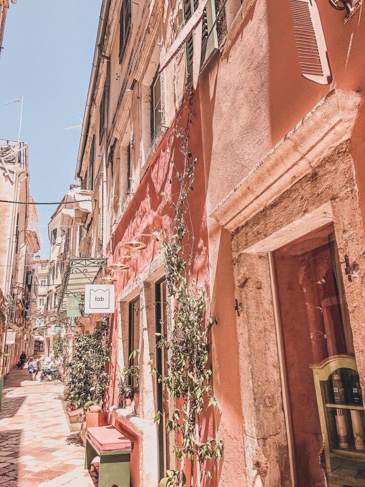 Streets of Corfu, Greece