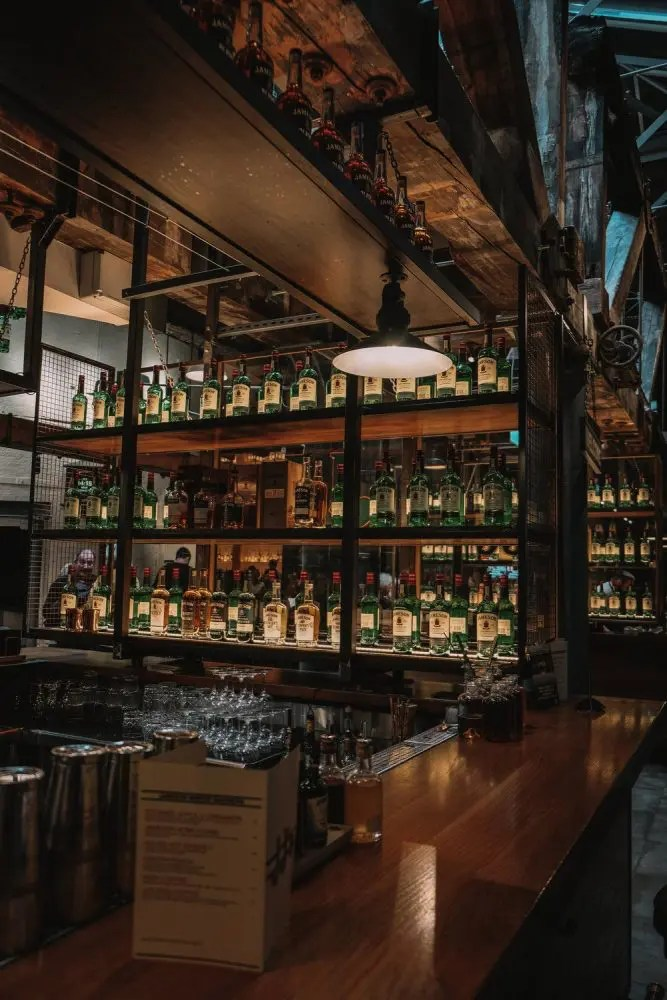 All the whiskey at Jameson