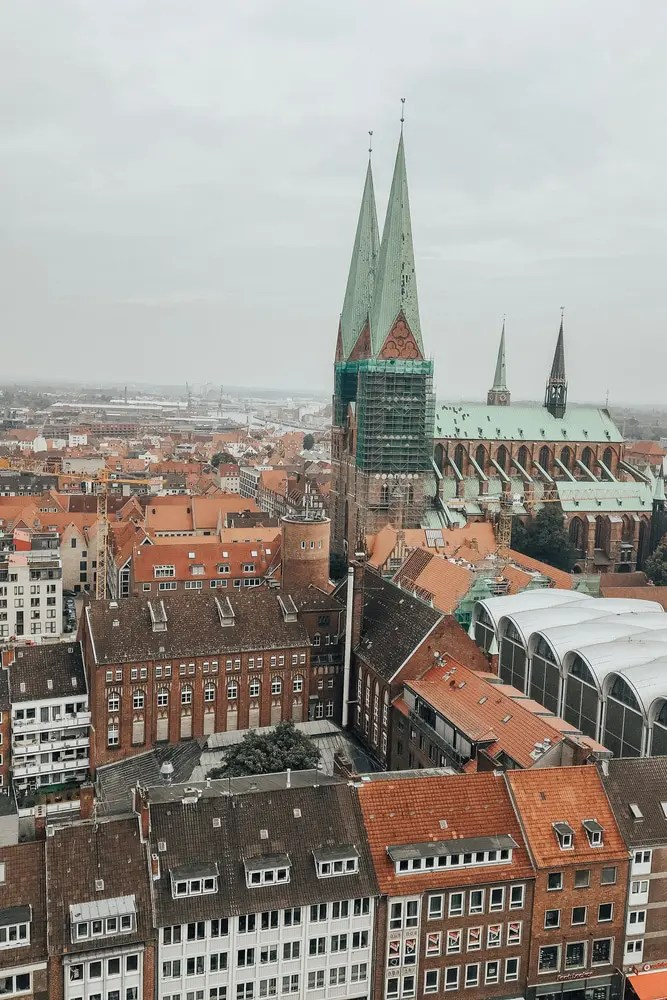 View of Lubeck from viewing tower
