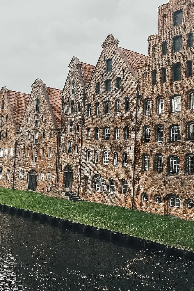 Row houses in Lubeck Germany