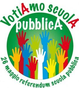 logo del Comitato art. 33 che suggerisce di votare la A