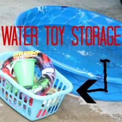water toys storage