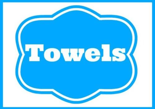 Basket Label TOWELS