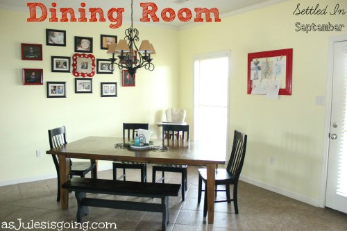 Dining Room {Settled In September}