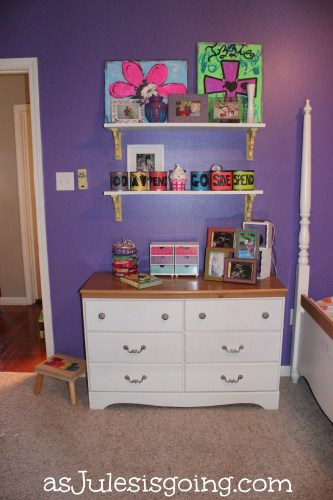 Girls' Room Dresser & Shelves