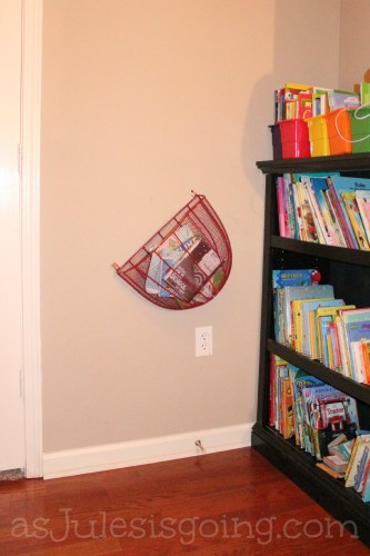 Library Basket where library books & movies are to be stored