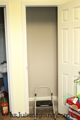 Pantry with Shelves Removed