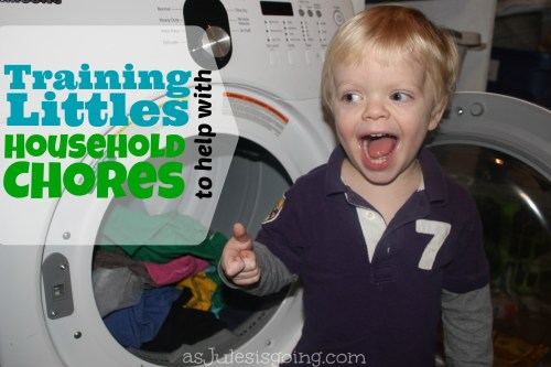 Training Littles to help with Household Chores