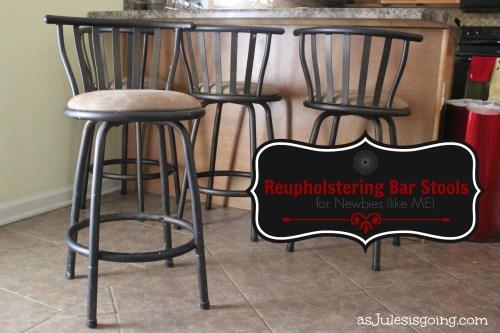 Reupholstering Bar Stools