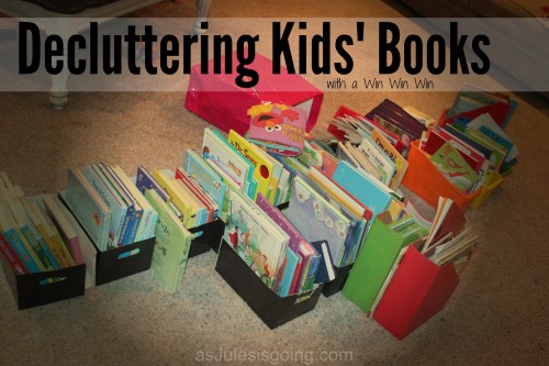 Decluttering Kids' Books with a Win Win Win