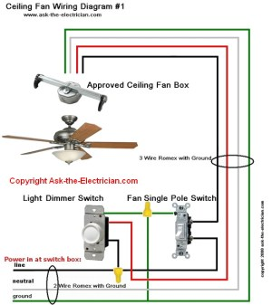 Ceiling Fan Wiring Diagram #1