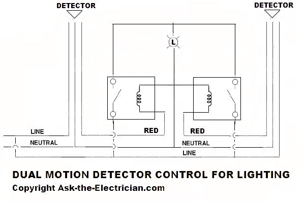 multiple motion detectors for light fixtures
