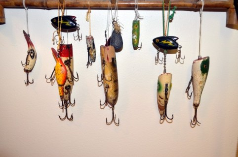 A few old school fishing lures