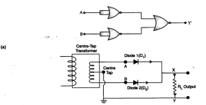 Explain briefly, with the help of circuit diagram, the