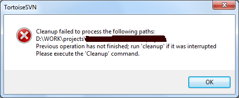 svn-cleanup-failt
