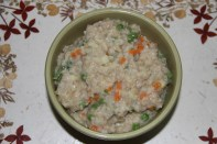 Savoury Oatmeal with vegetables