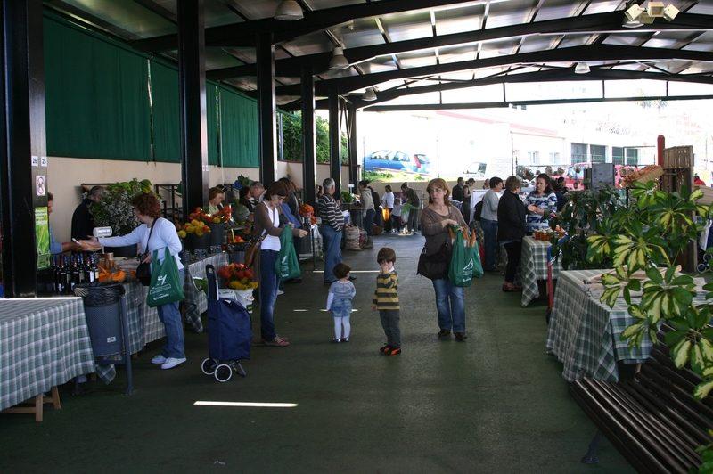 Market stands