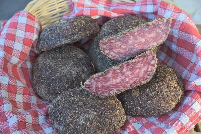 Loaf of salami