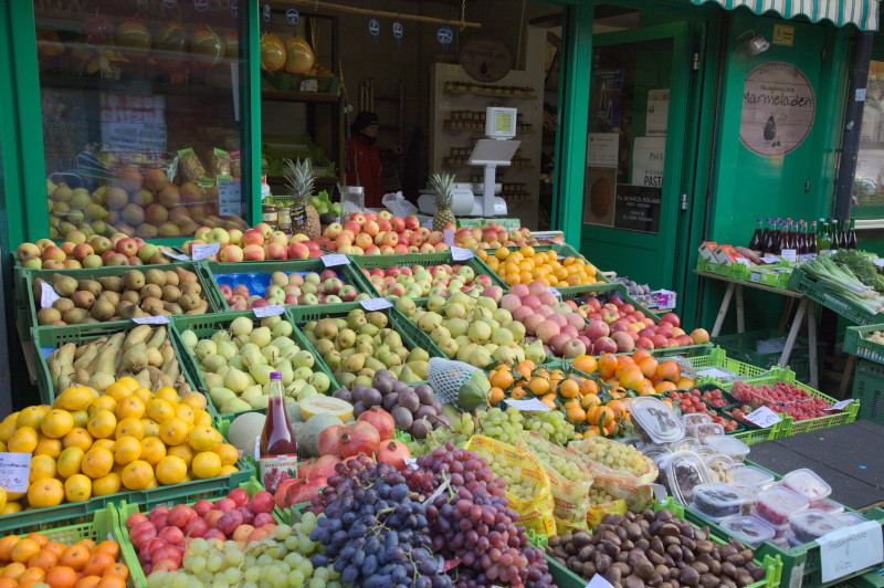 One of the 2 fruit stalls