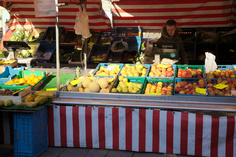 Sun on the stall