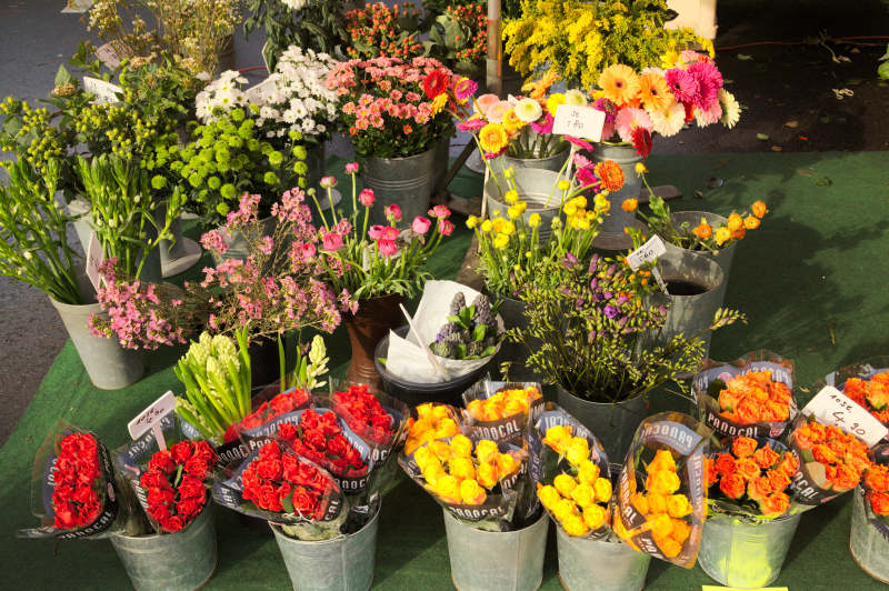 Flowers - to add distinct colours to the market