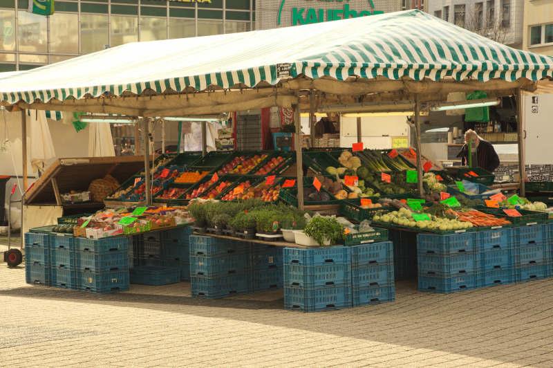The vegetable & fruit stall