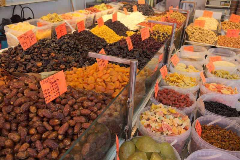 Dried fruit in all varieties