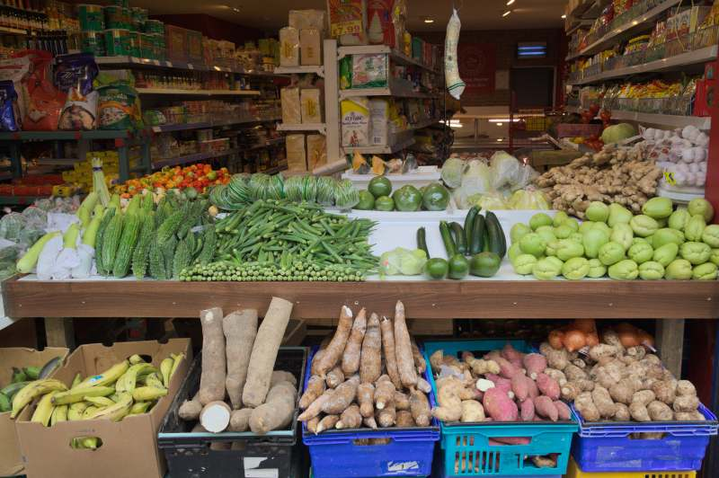 Exotic produce shop on Moore Street