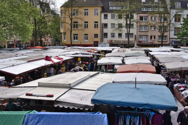 The view from above Cologne Nippes Market