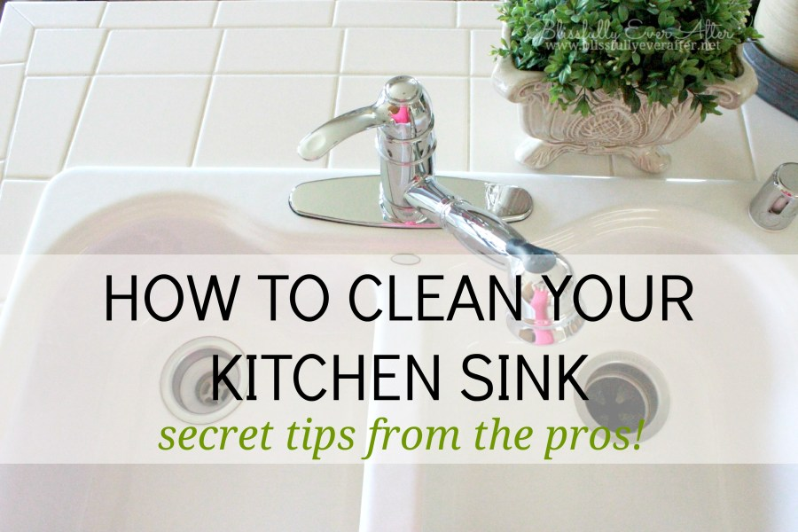 How to clean a sink  like the pros