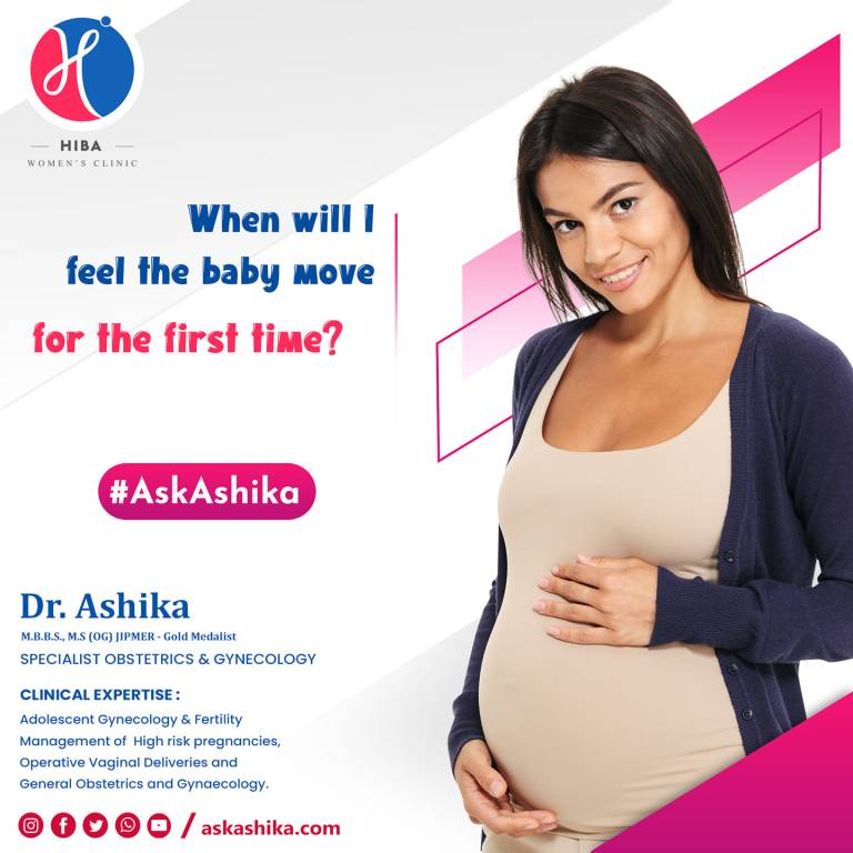 Read more about the article When will I feel the baby move for the first time?