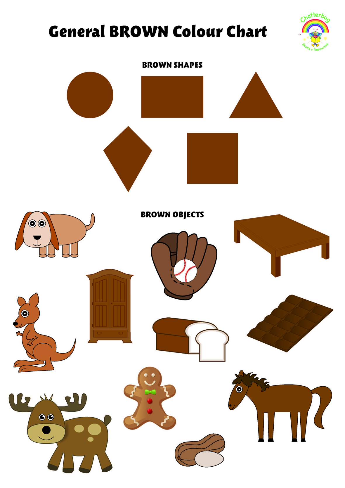 Brown Colour Chart