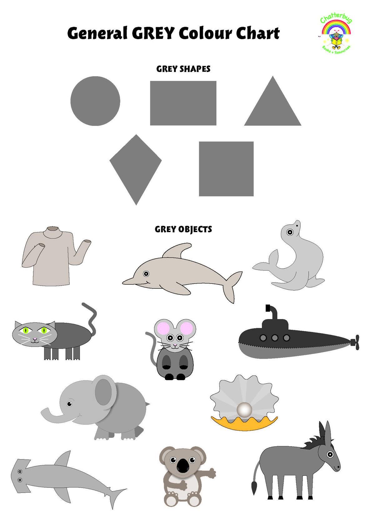 Grey Colour Chart