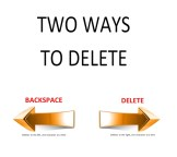 2 ways to delete