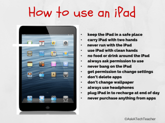 Rules of iPad use