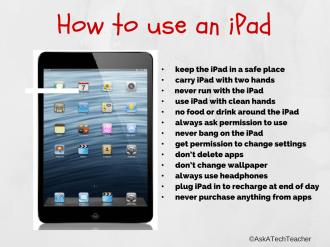 Rules of iPad use