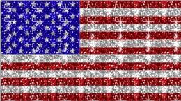 USA flag with sparkles