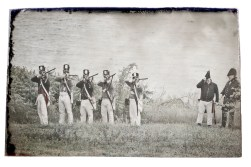 Stock Photo of war of 1818 in Canda - vintage and aged photograph effect applied